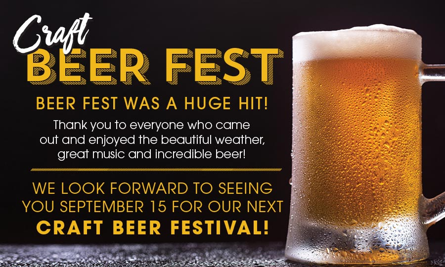 Craft Beer Fest tickets to go on sale soon! Check back by April 25th